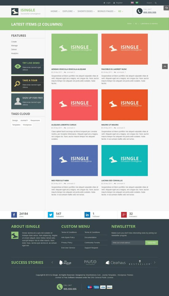 SJ iSingle - Responsive Joomla Business Template - 07-2-columns.jpg