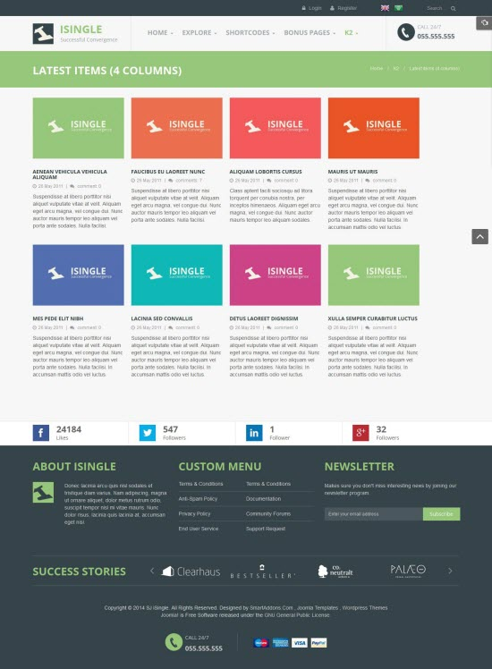 SJ iSingle - Responsive Joomla Business Template - 08-4-columns.jpg