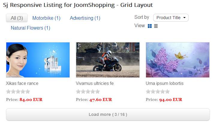 SJ Responsive Listing for JoomShopping - Joomla! Module - 01grid.png