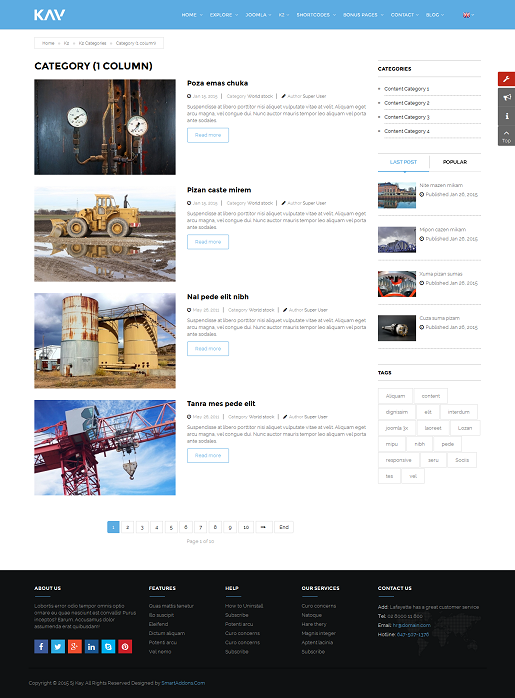 SJ Kay - Responsive Joomla Business Template - 07_content-litsing.png