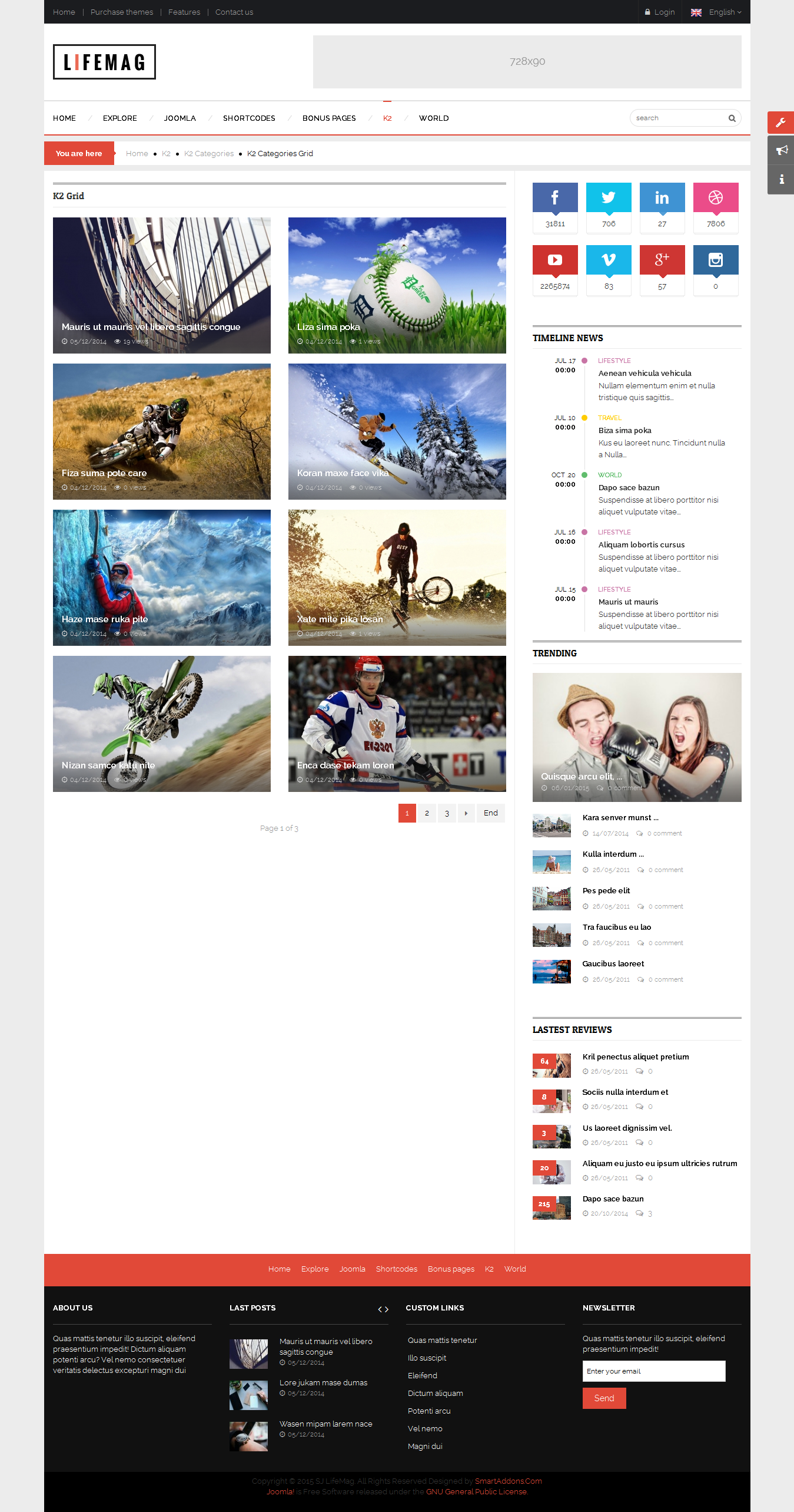 SJ LifeMag - Responsive Joomla News Magazine Template - 04_k2-cat-grid.png