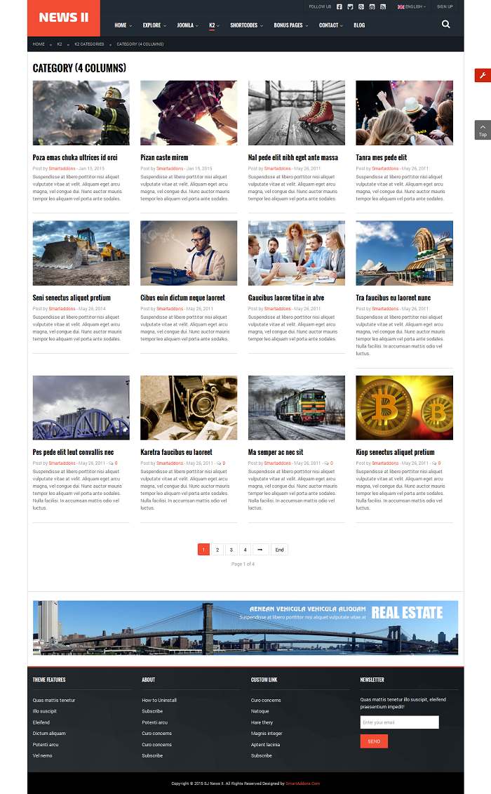 SJ News II - Free Responsive Joomla News Magazine Template - 06_k2-categories_category-4-columns.png