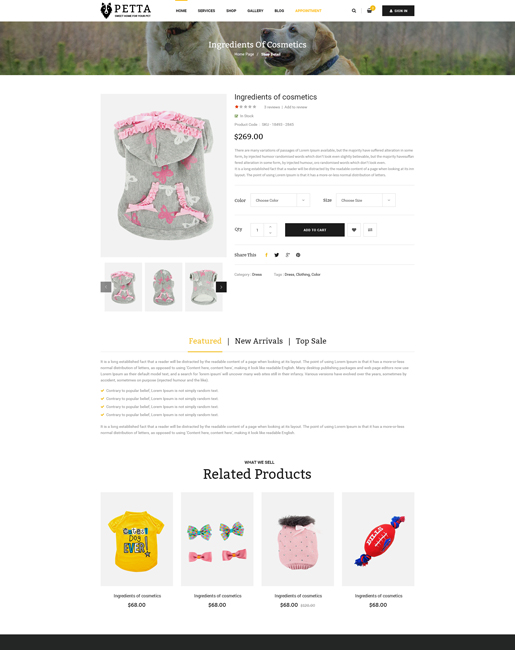 SJ Petta - Responsive Joomla Pet Care Service Template - 07_Shop_Detail.jpg