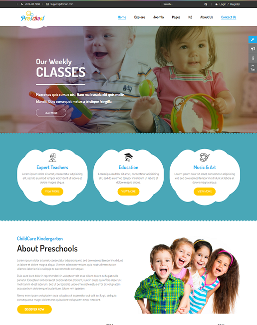SJ Preschool - Responsive Education Joomla Template - 02_homepage.png