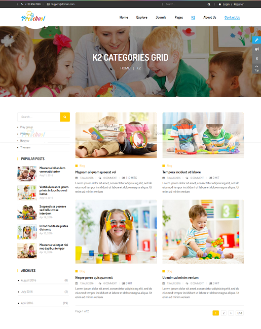SJ Preschool - Responsive Education Joomla Template - 03_category.png