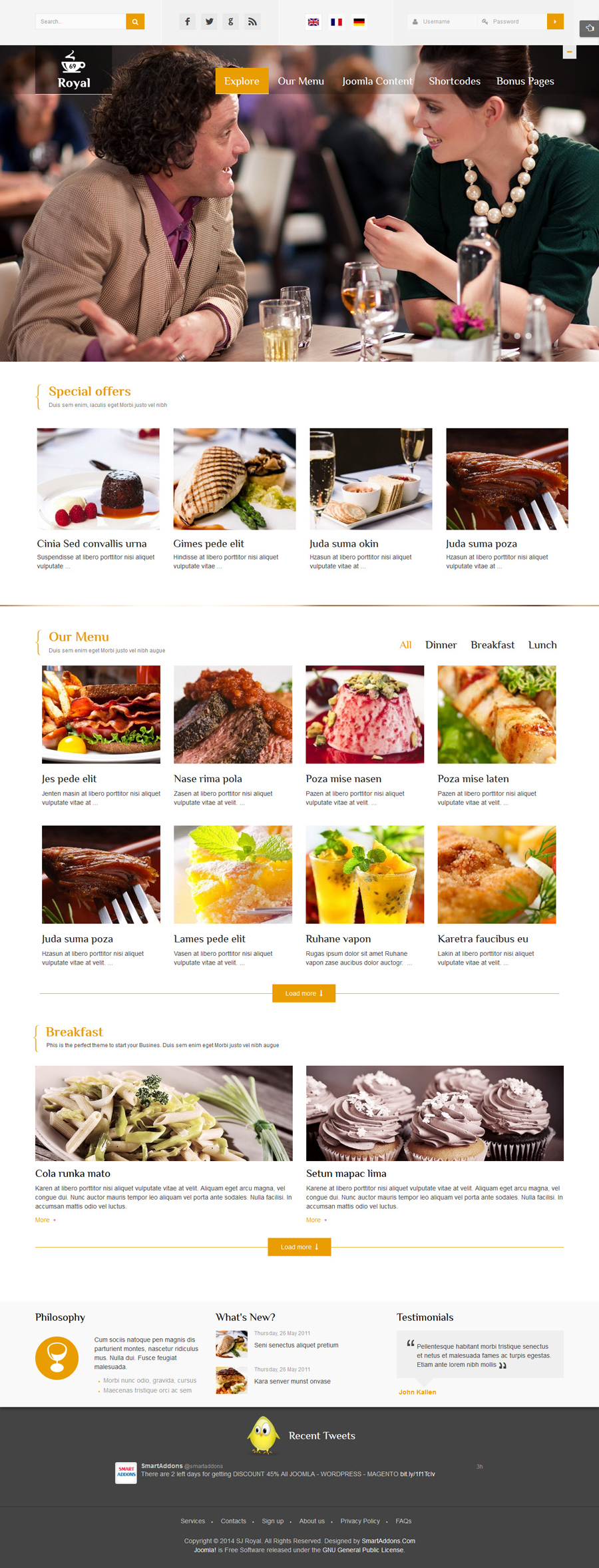 SJ Royal - Responsive Joomla Restaurant, Hotel Template - 04-golden.jpg