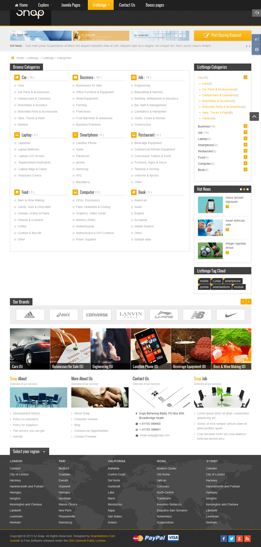 SJ Snap - Responsive Joomla Classified Template - 10-listbingo-page.png