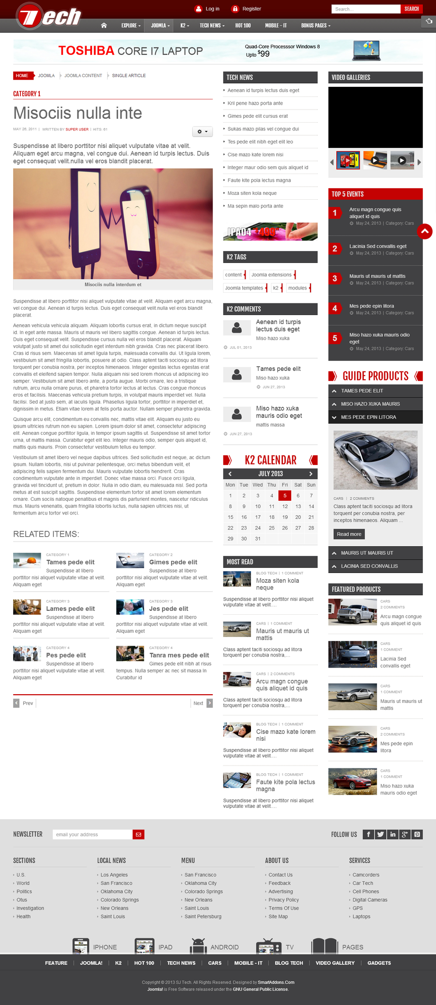 SJ Tech - Responsive Joomla news magazine Template for Tech - 03joomladetail.jpg