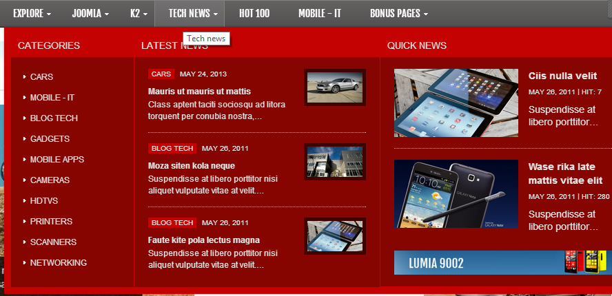 SJ Tech - Responsive Joomla news magazine Template for Tech - 06mega.jpg