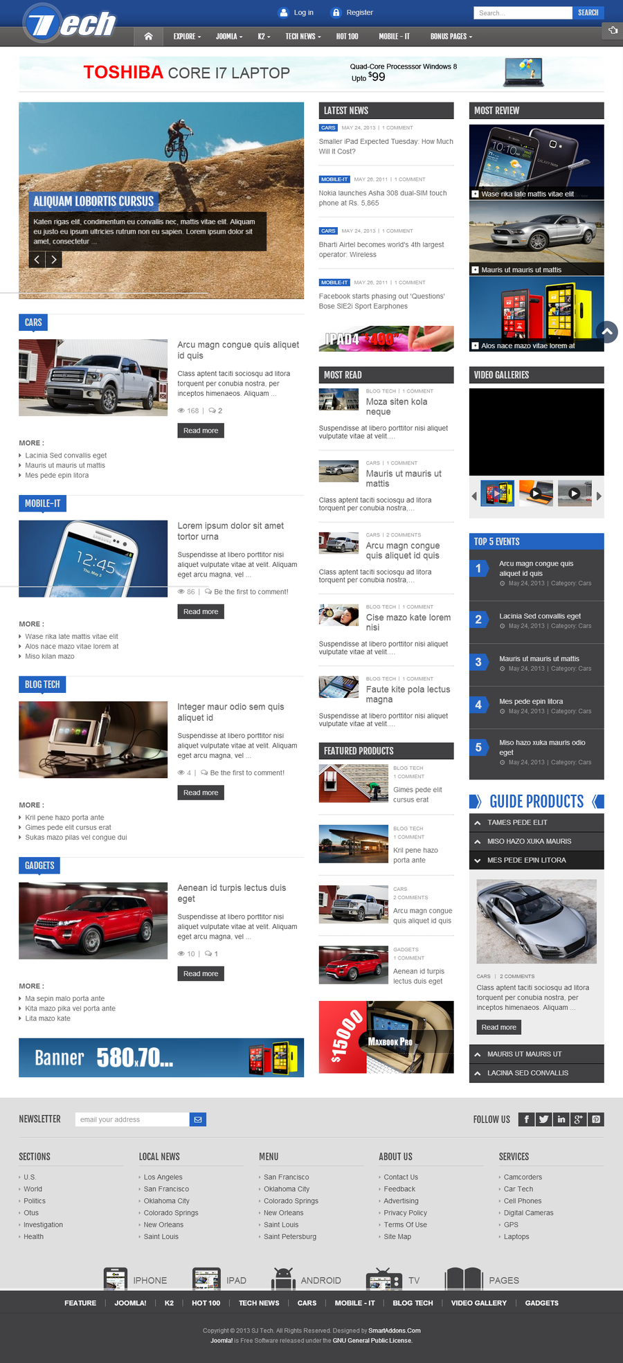 SJ Tech - Responsive Joomla news magazine Template for Tech - 07blue.jpg