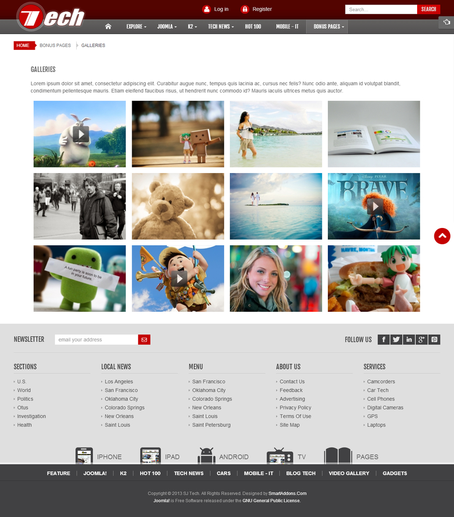 SJ Tech - Responsive Joomla news magazine Template for Tech - 11pagegallery.jpg