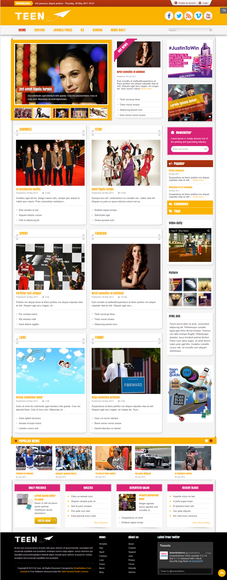 SJ Teen - Responsive Joomla Template for youth age magazine - 01index.jpg