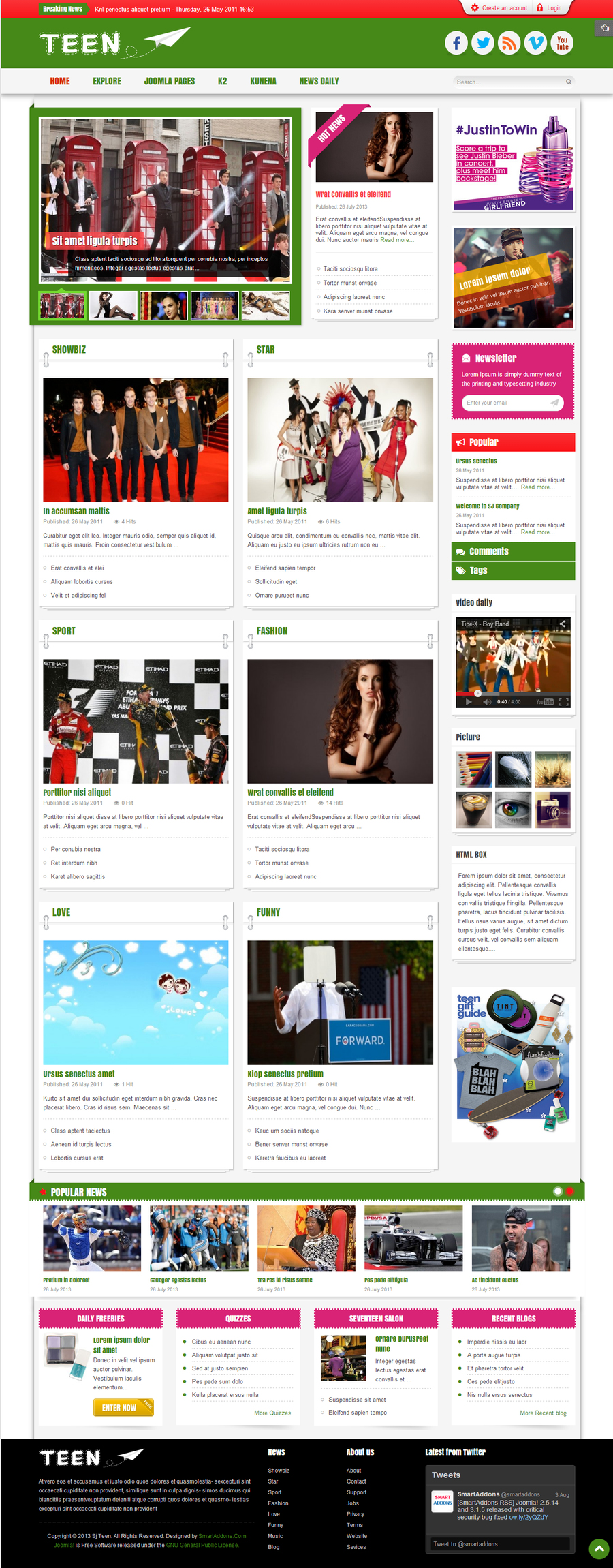 SJ Teen - Responsive Joomla Template for youth age magazine - 02index-green.jpg