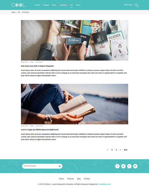 SJ TheCool Pro - Responsive One Page Book Store Joomla Template - 06_k2listing.png
