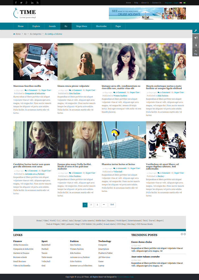 SJ Time - Responsive Joomla News Magazine Template - 08_k2-categories_listing-4-columns.png
