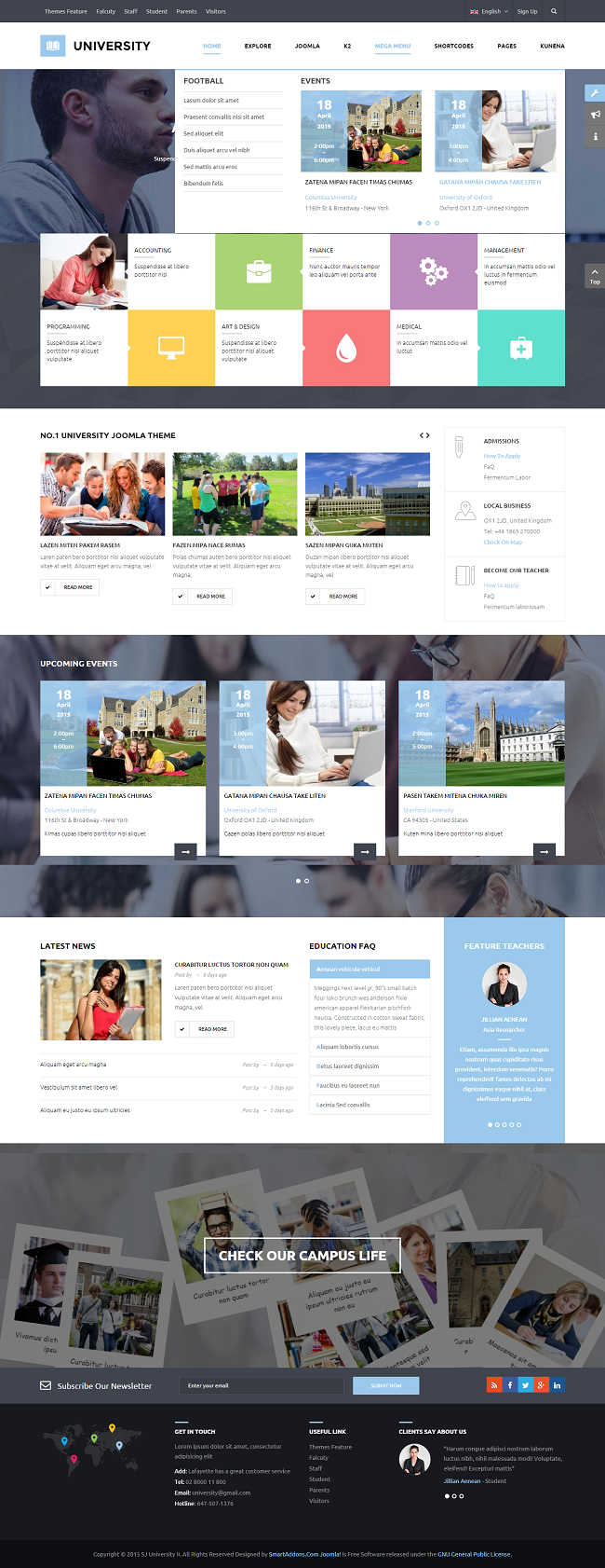 SJ University II - Responsive Joomla Educational Template - 08_mega-menu.png