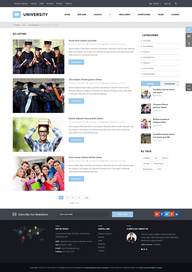 SJ University II - Responsive Joomla Educational Template - 10_content-listing.png