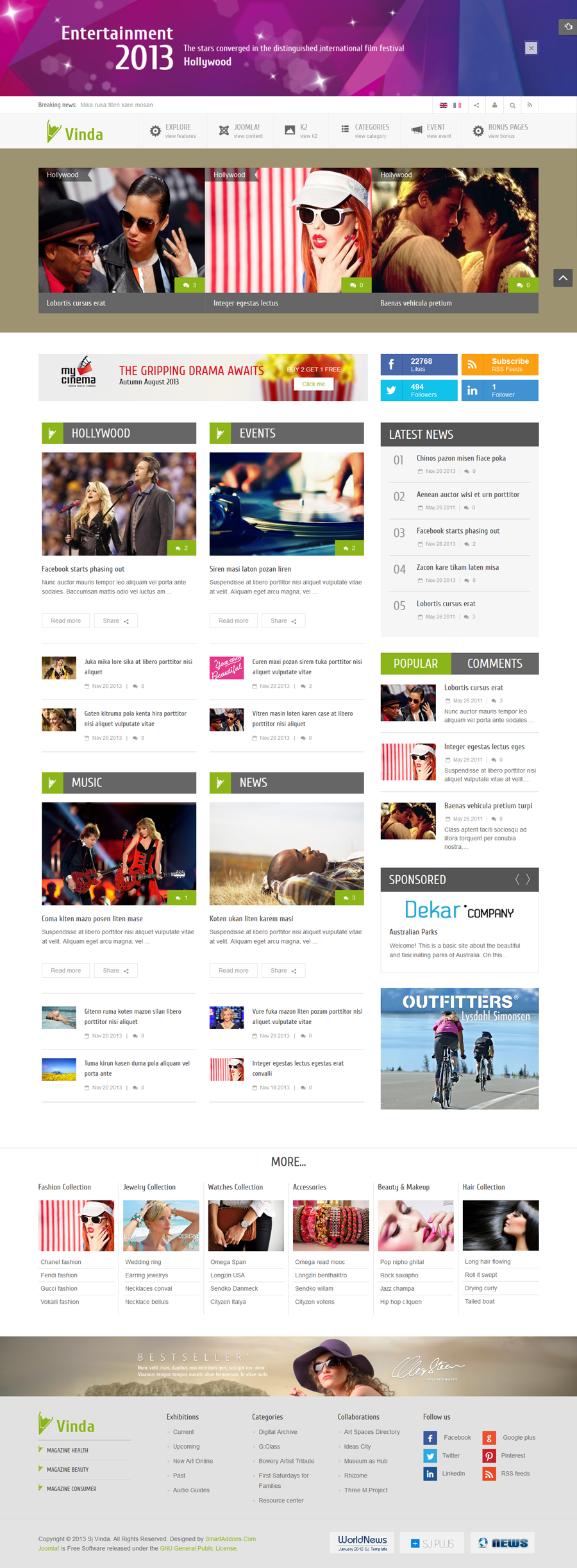 SJ Vinda - Free Joomla Entertainment Template - 03homepage3.png
