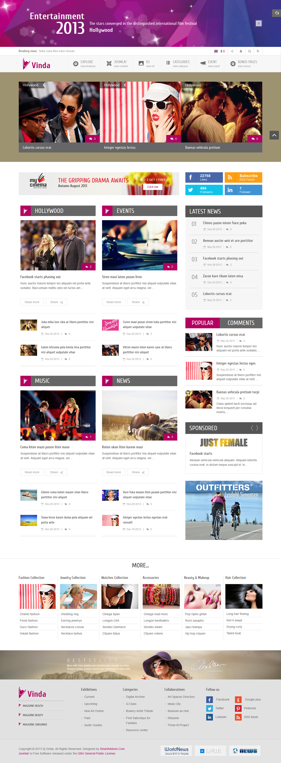 SJ Vinda - Free Joomla Entertainment Template - 04homepage4.png
