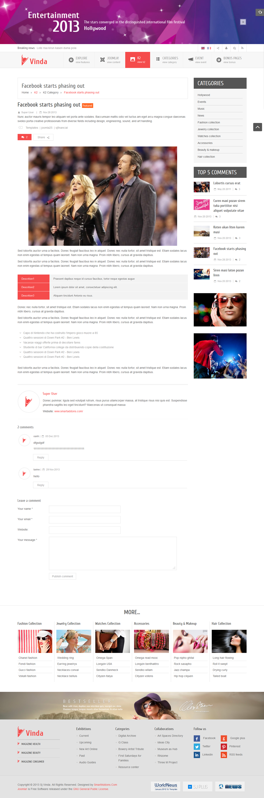 SJ Vinda - Free Joomla Entertainment Template - 09-k2-items.png