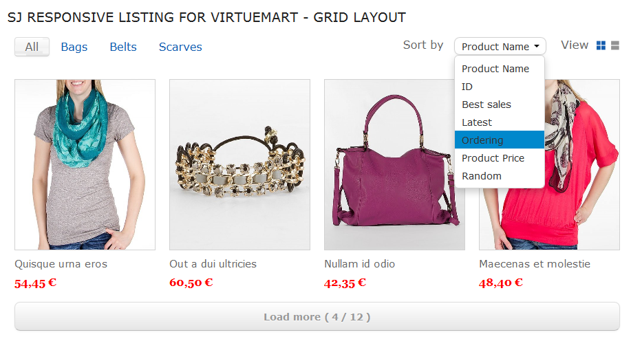 SJ Responsive Listing for VirtueMart - Joomla! Module - 06-sort-product.png