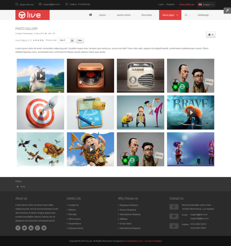 SJ Live - Responsive Joomla Classified Template - 04_photo_gallery.jpg