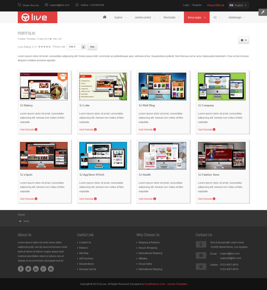 SJ Live - Responsive Joomla Classified Template - 05_portpolio.jpg