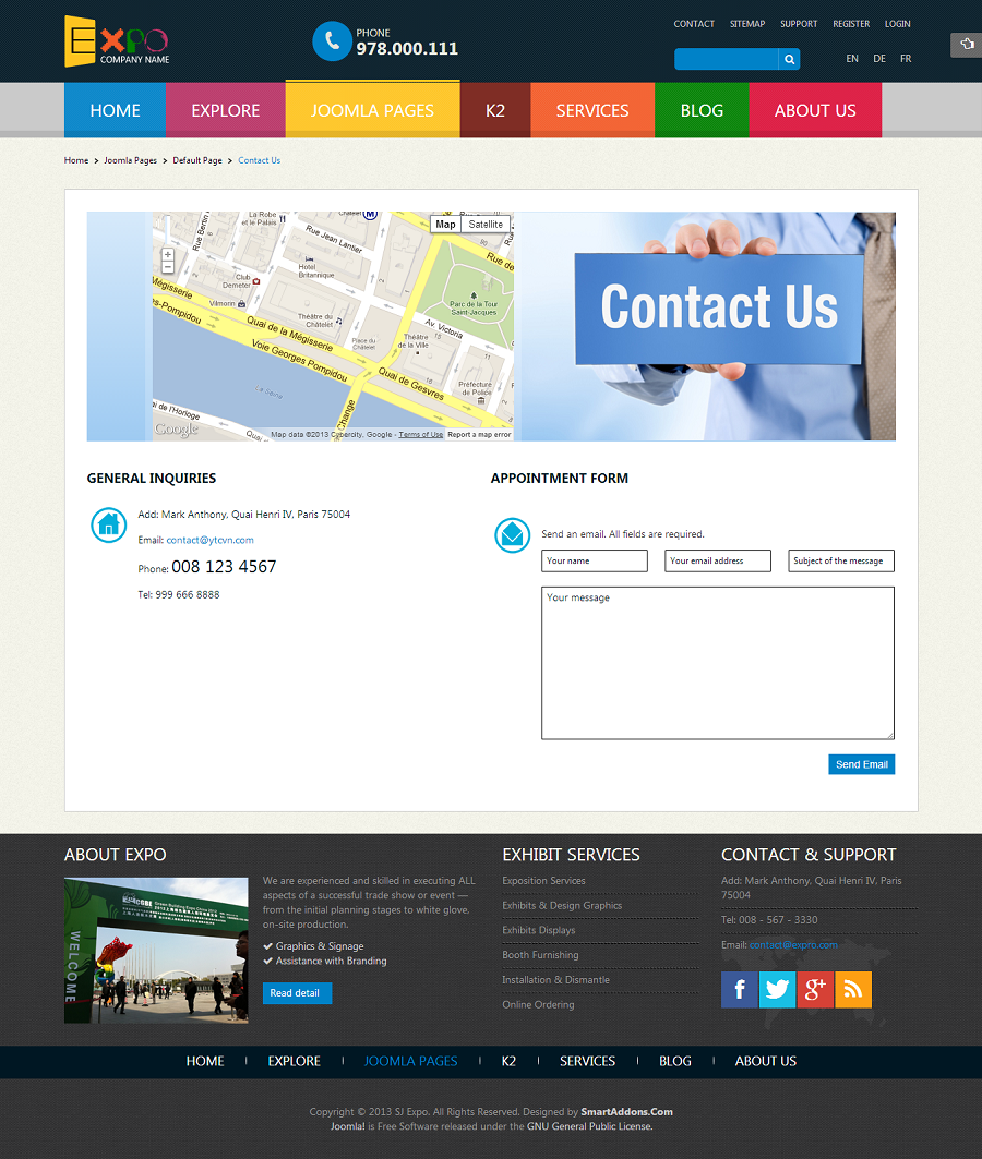 SJ Expo - Responsive Joomla Template - 10contact.png