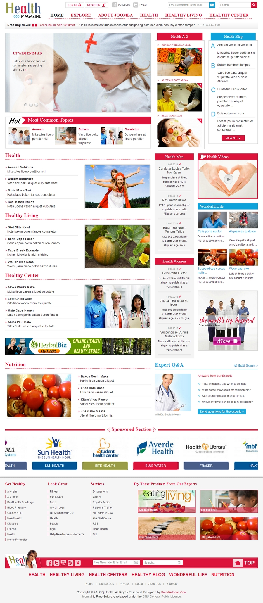 SJ Health - Responsive Joomla Healthcare Template - 01index.jpg