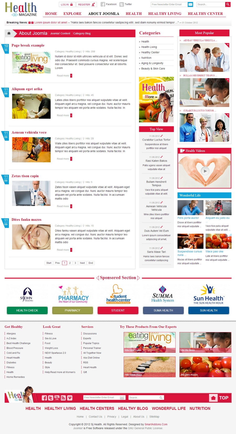 SJ Health - Responsive Joomla Healthcare Template - 02blog.jpg