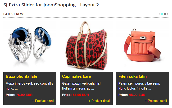 SJ Extra Slider for JoomShopping - Joomla! Module - layout2.png