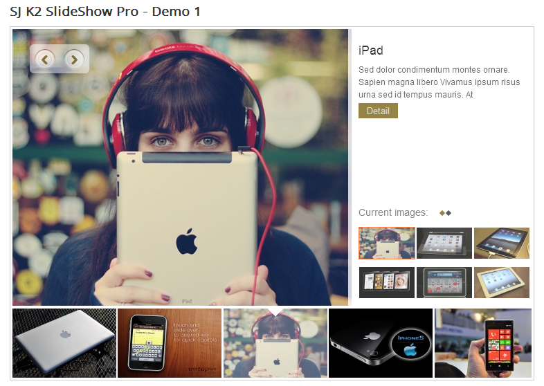 SJ Slideshow Pro for K2 - Joomla! Module - 1Demo1.png