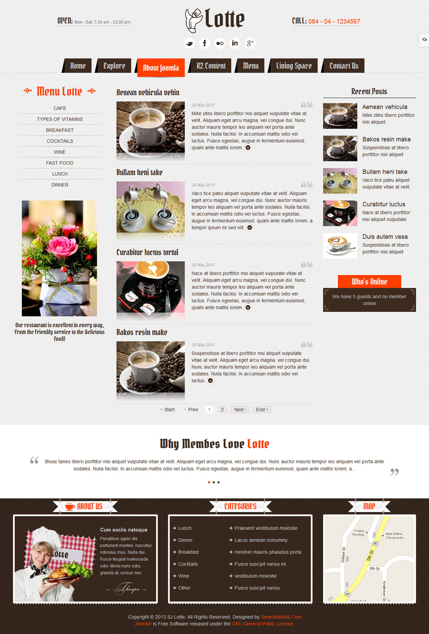 SJ Lotte - Responsive Joomla restaurant, hotel or tourism Template - 2content-listing.jpg