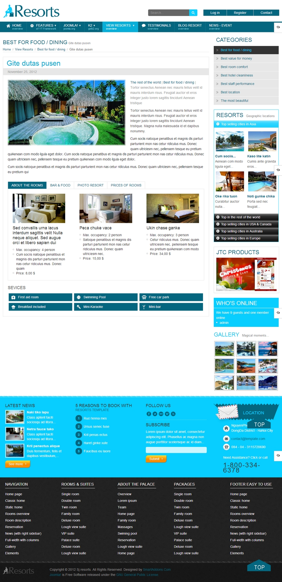 SJ Resorts - Responsive Joomla Resorts & spa Template - 07sobientry.jpg