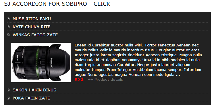 SJ Accordion for SobiPro - Responsive Joomla! Module - 01index.png