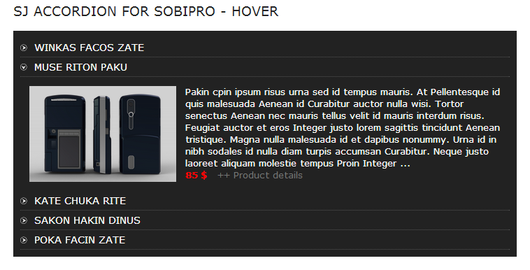 SJ Accordion for SobiPro - Responsive Joomla! Module - 02index.png