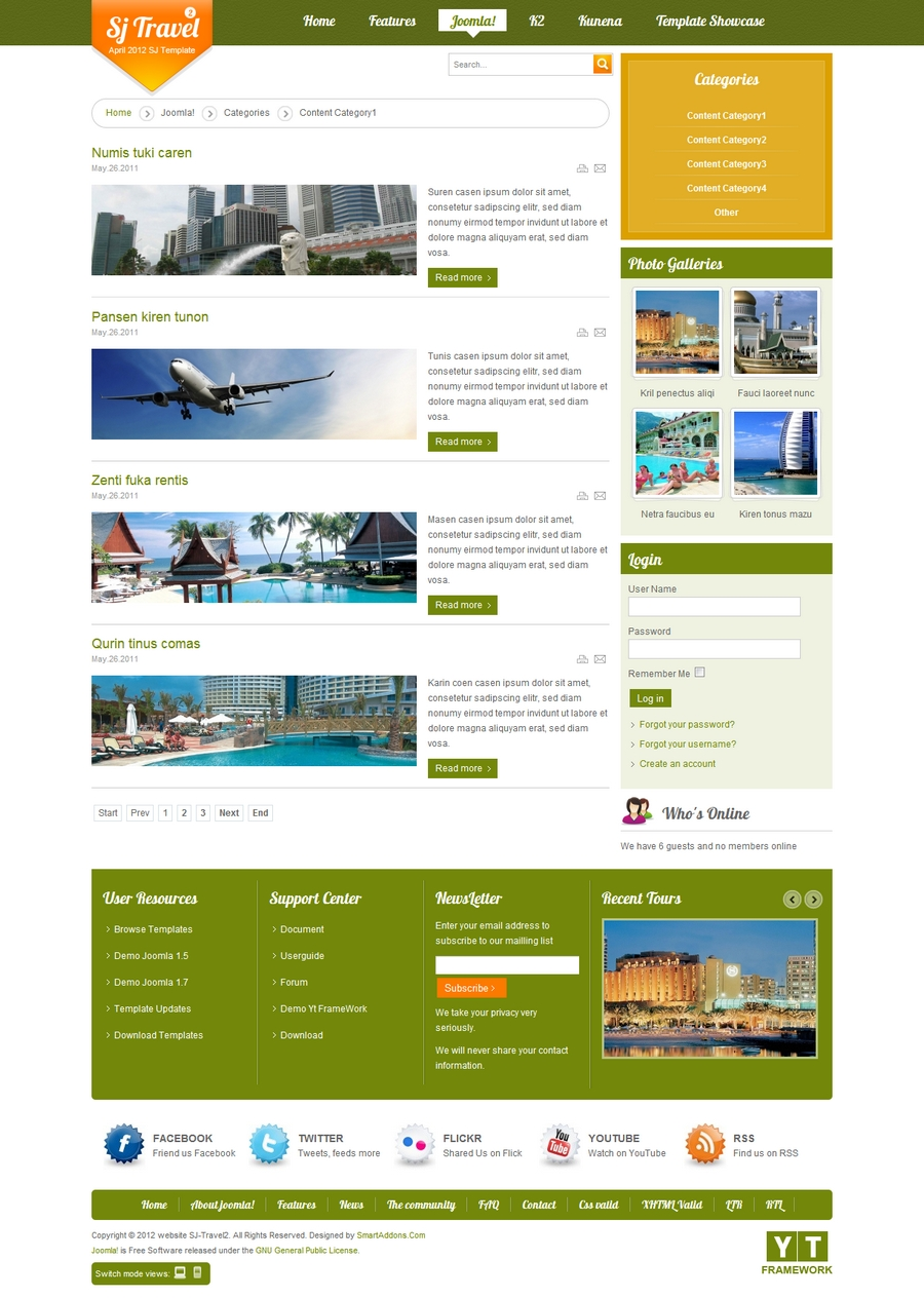 SJ Travel II - Responsive Joomla Travel II Template - 2ContentCategory1.jpg
