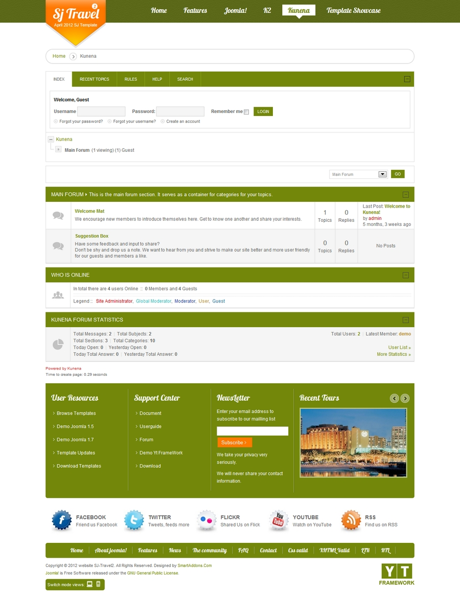 SJ Travel II - Responsive Joomla Travel II Template - 8MainForumKunena.jpg