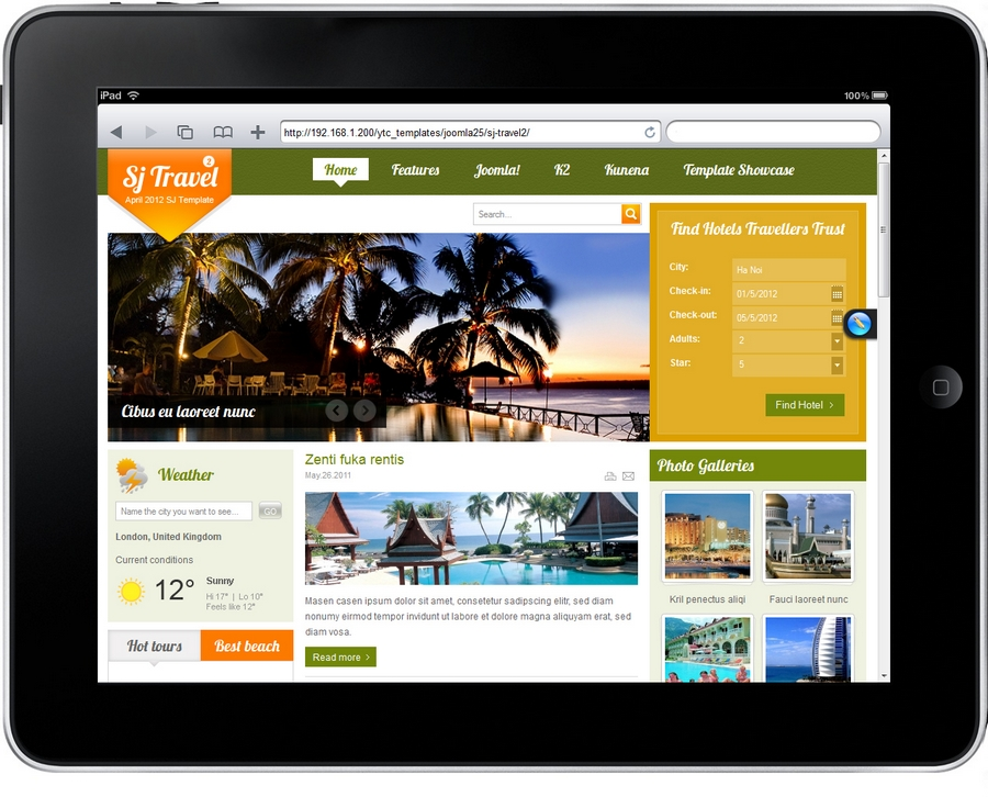 SJ Travel II - Responsive Joomla Travel II Template - 95sj-travel2-ipad.jpg