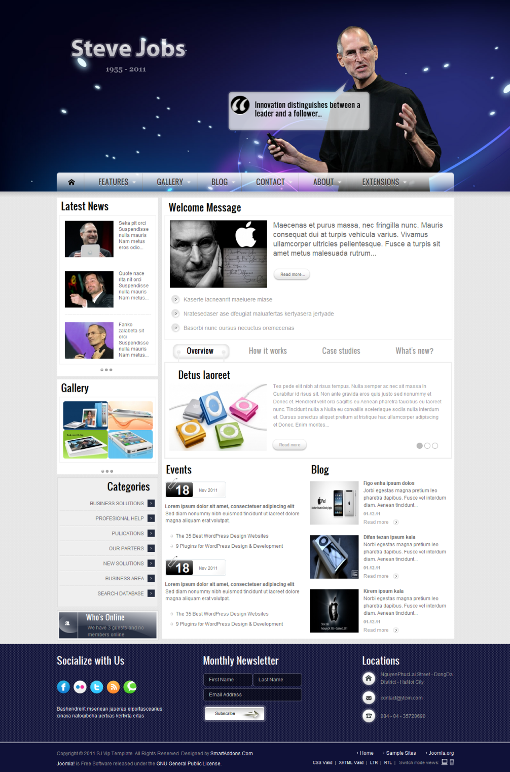 SJ Vip - Joomla Template - 1index.png