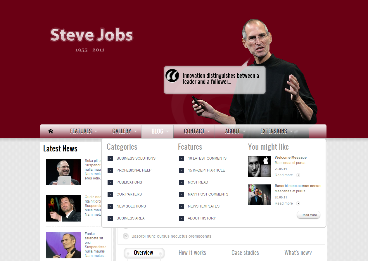 SJ Vip - Joomla Template - 5menu-blog.png