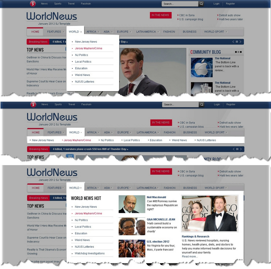 SJ WorldNews - Joomla Template for News magazine - 6menu.jpg