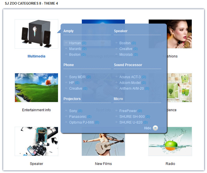 SJ Categories II for Zoo - Joomla! Module - 4sjzoocategoriesii-theme4.jpg