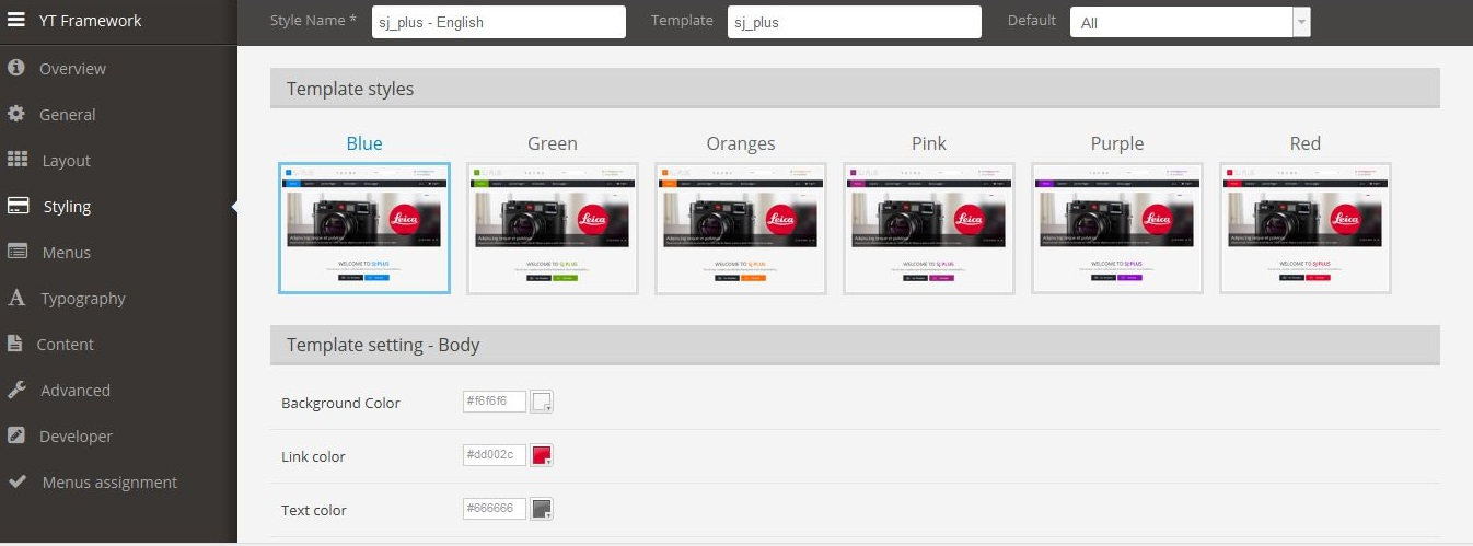 YT Framework  - Powerful web platform with many advanced features - 14_style.jpg