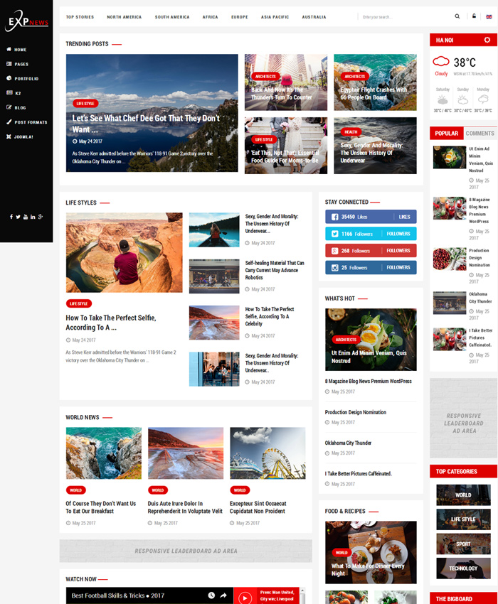 Best Free & Premium News, Magazine Joomla Templates 2020