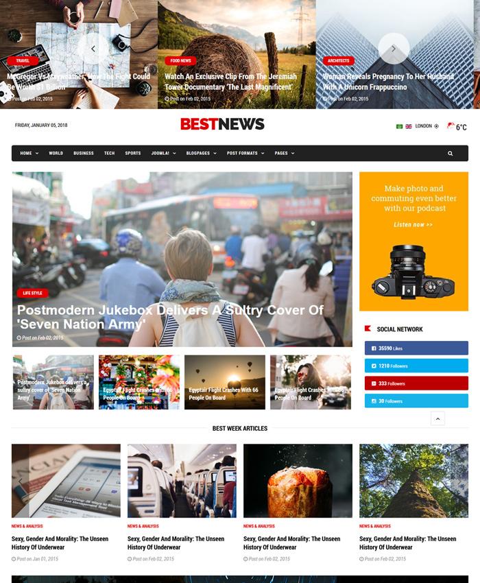 Best Free & Premium News, Magazine Joomla Templates in 2021