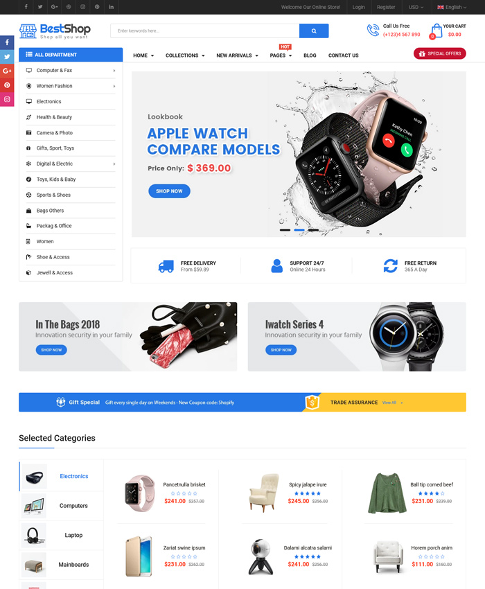 10 Best Shopify Themes for Electronics & Technology Stores