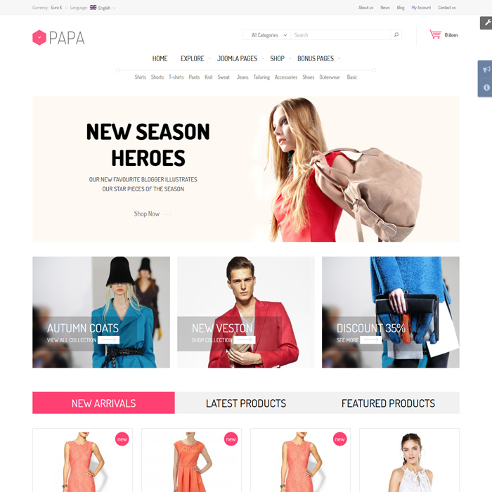 2021's 10 Best Clothes & Fashion Accessories Joomla Templates