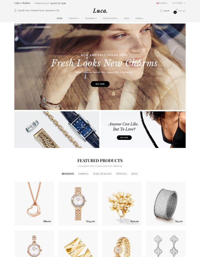 2021's Best OpenCart Themes for Watch & Jewelry Stores