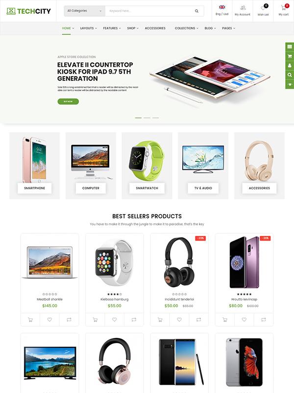 Premium Responsive OpenCart Theme - TechCity
